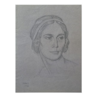 Portrait of Anna Pavlova , 1908 Poster