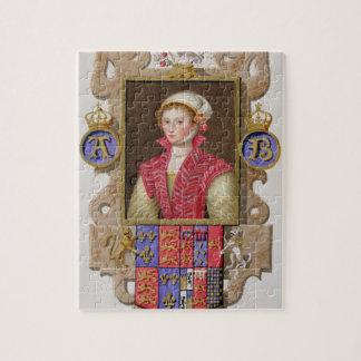 Portrait of Anne Boleyn (1507-36) 2nd Queen of Hen Jigsaw Puzzle