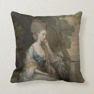Portrait of Anne, Countess of Chesterfield, 1777 Throw Pillow