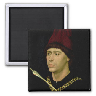 Portrait of Antoine  bastard of Burgundy Square Magnet