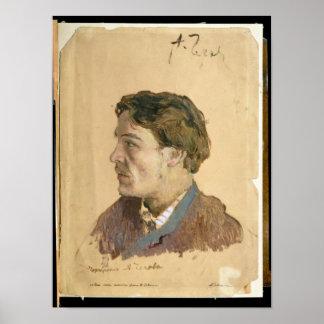 Portrait of Anton Chekhov Poster