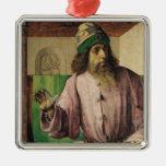 Portrait of Aristotle , c.1475 Metal Ornament