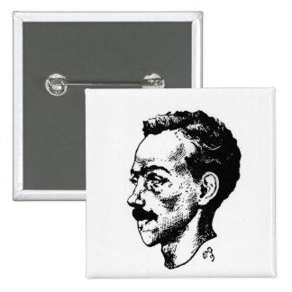 Portrait of Arthur Rimbaud Pinback Buttons