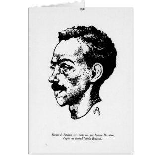 Portrait of Arthur Rimbaud Greeting Cards