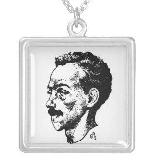 Portrait of Arthur Rimbaud Personalized Necklace