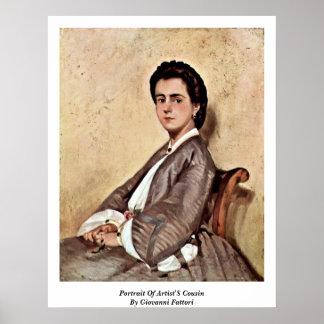 Portrait Of Artist'S Cousin By Giovanni Fattori Poster