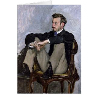 Portrait of Auguste Renoir , 1867 Card
