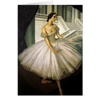 Portrait of Ballerina Anna Pavolva Card