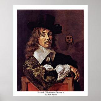 Portrait Of Balthazar Coymans By Hals Frans Poster