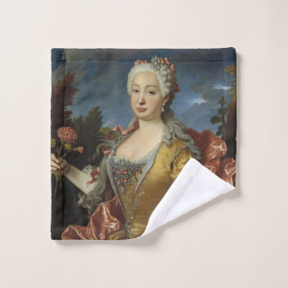 """Portrait of Barbara of Portugal"" art wash cloth"