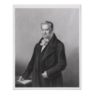 Portrait of Baron Alexander von Humboldt Poster