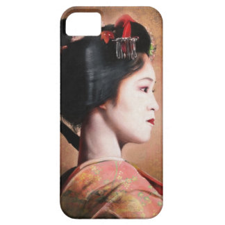 Portrait of beautiful Geisha digital painting iPhone 5 Covers