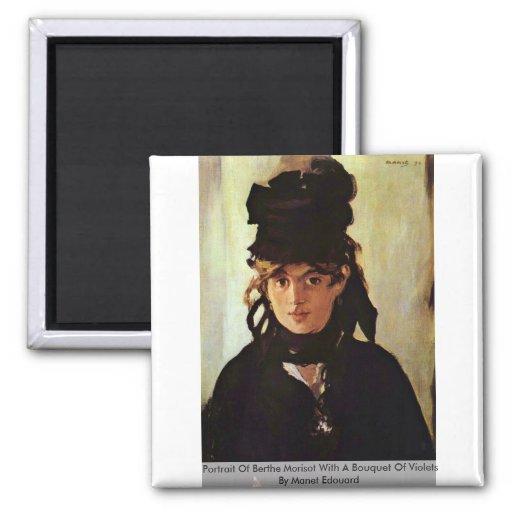 Portrait Of Berthe Morisot Magnet