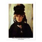 Portrait Of Berthe Morisot Postcard