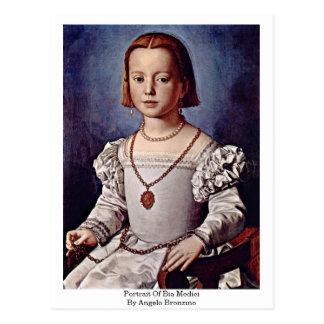 Portrait Of Bia Medici By Angelo Bronzino Postcard