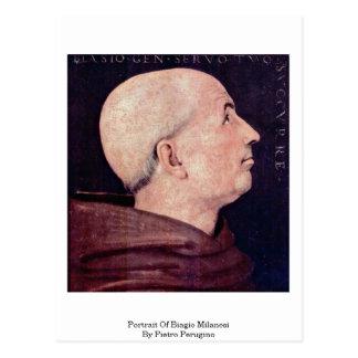 Portrait Of Biagio Milanesi By Pietro Perugino Postcard
