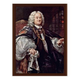 Portrait Of Bishop Benjamin Hoadly By Hogarth Postcard