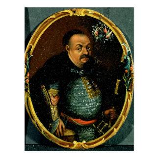 Portrait of Bohdan Khmelnytsky Postcard