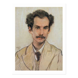 Portrait of Boris Nikolayevich Bugaev (1880-1934) Postcard