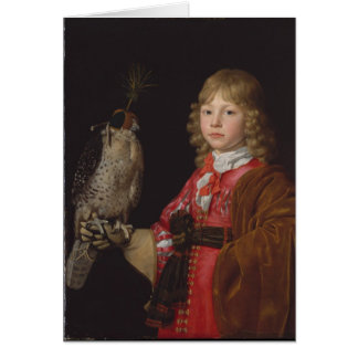 Portrait of Boy with Falcon Card