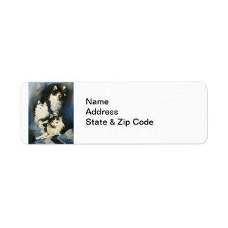 Portrait of Buffy Avery Label Return Address Label