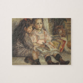 Portrait of Caillebotte Children by Pierre Renoir Jigsaw Puzzle
