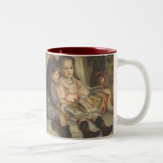 Portrait of Caillebotte Children by Pierre Renoir Two-Tone Coffee Mug