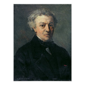 Portrait of Camille Corot  c.1863 Poster