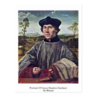 Portrait Of Canon Stephen Gardiner By Messys Post Cards