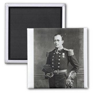 Portrait of Captain Robert Falcon Scott Square Magnet