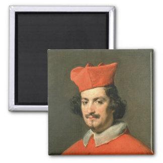 Portrait of Cardinal Camillo Astali Pamphili Square Magnet
