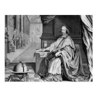 Portrait of Cardinal Mazarin  in his Palace Postcard