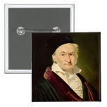 Portrait of Carl Friedrich Gauss, 1840 2 Inch Square Button