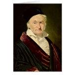 Portrait of Carl Friedrich Gauss, 1840 Greeting Card