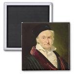 Portrait of Carl Friedrich Gauss, 1840 Square Magnet