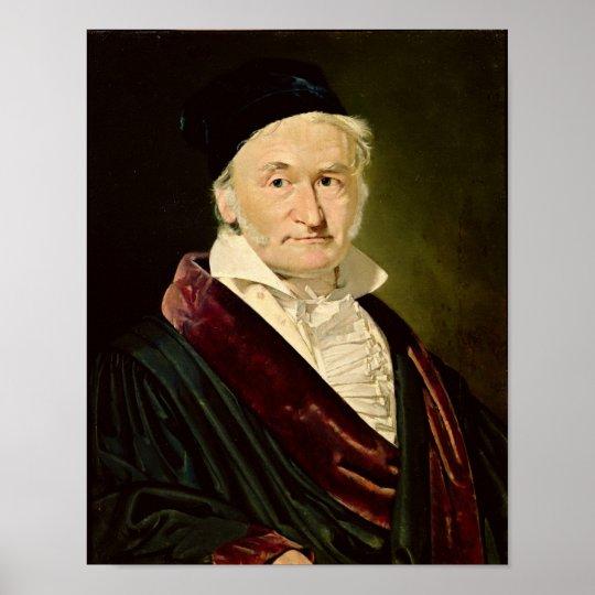 Portrait of Carl Friedrich Gauss, 1840 Poster