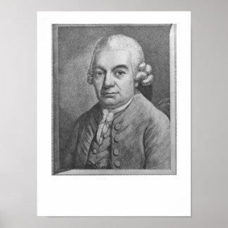 Portrait of Carl Philipp Emanuel Bach (1714-88) (e Poster