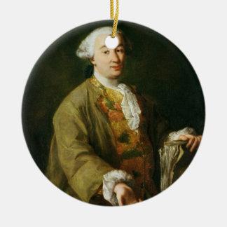 Portrait of Carlo Goldoni Ceramic Ornament