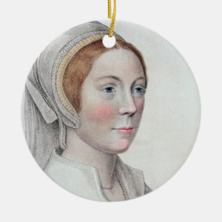 Portrait of Catherine Howard (1520-42) engraved by Ceramic Ornament