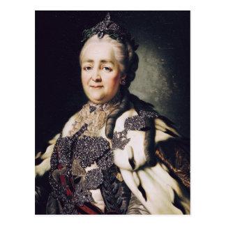 Portrait of Catherine II  of Russia Postcard