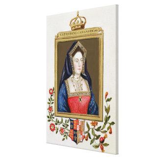 Portrait of Catherine of Aragon (1485-1536) 1st Qu Canvas Prints
