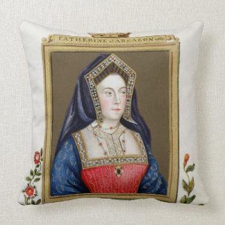 Portrait of Catherine of Aragon (1485-1536) 1st Qu Throw Pillow