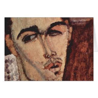 Portrait of Celso Lagar - Amedeo Modigliani Card