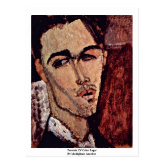 Portrait Of Celso Lagar By Modigliani Amedeo Postcard
