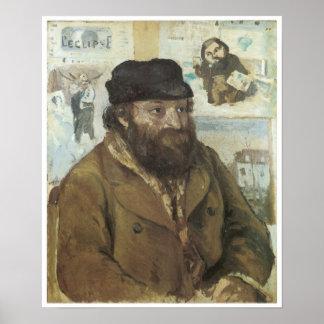 Portrait of Cezanne 1874 Posters