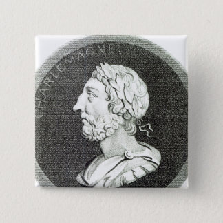 Portrait of Charlemagne 2 Inch Square Button