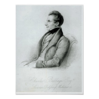 Portrait of Charles Babbage  1832 Poster
