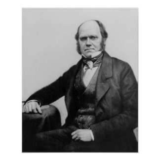 Portrait of Charles Darwin, 1854 Poster