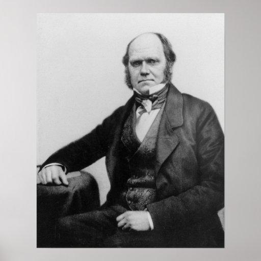 Portrait of Charles Darwin, 1854 Poster