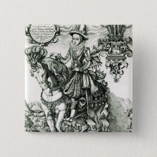 Portrait of Charles I as a Prince 2 Inch Square Button